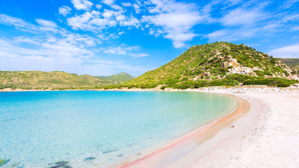 Sardinien weißer Strand von Orri