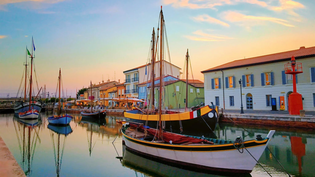 Antiker Hafen in Cesenatico