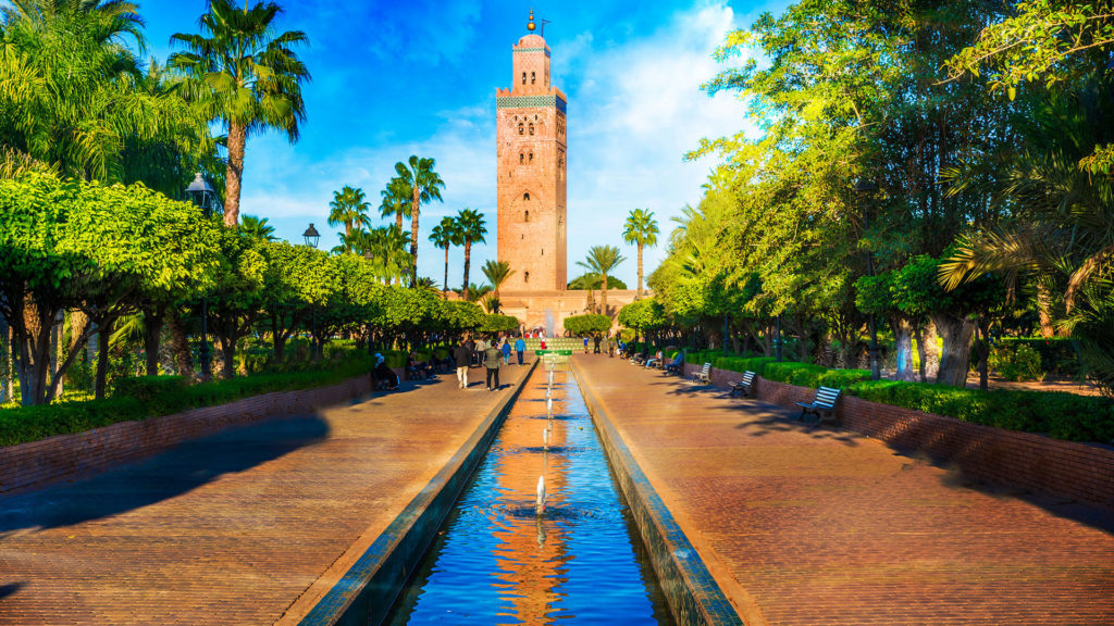 Marrakesch Koutoubia Moschee Minarett Medina