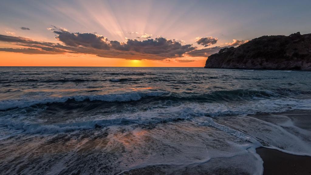 Ischia - Strand San Francesco Sonnenuntergang