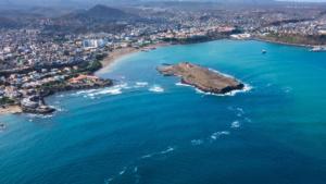 Kapverdische Inseln Luftaufnahme