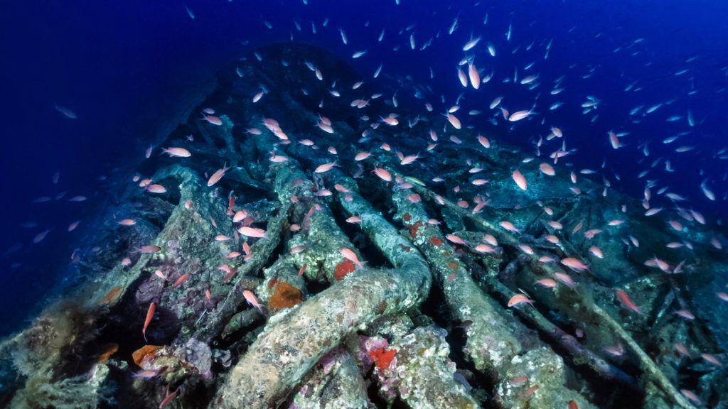 Schiffswrack vor der Küste Sardiniens