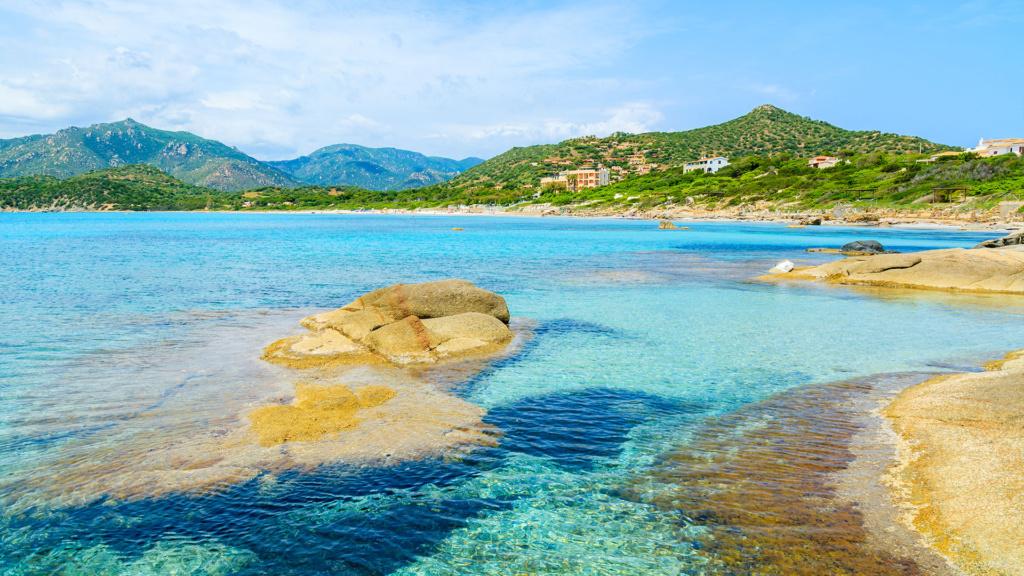 Strand Del Riso in Villasimius Sardinien